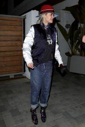 Rita Ora Casual Style - Arriving at a friend
