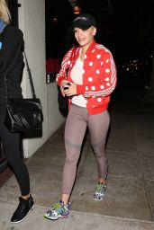 Rita Ora in Spandex - Arriving at Matsuhisa Restaurant in Beverly Hills, January 2015