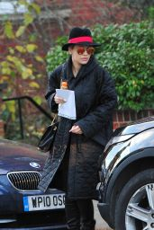 Rita Ora Winter Style - Leaving Her Home in London - Jan. 2015