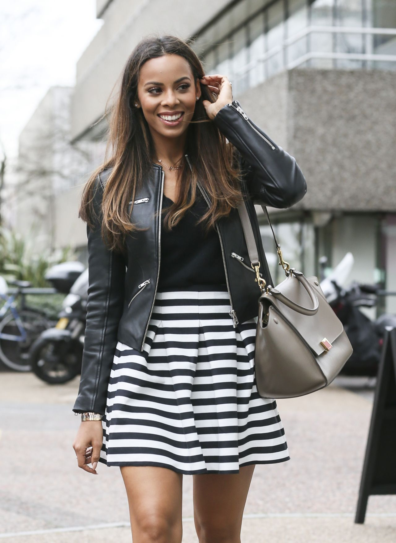 Rochelle Humes (Wiseman) - Leaves the London Studios, January 2015