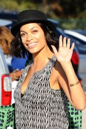 Rosario Dawson - Filming in Los Angeles, January 2015