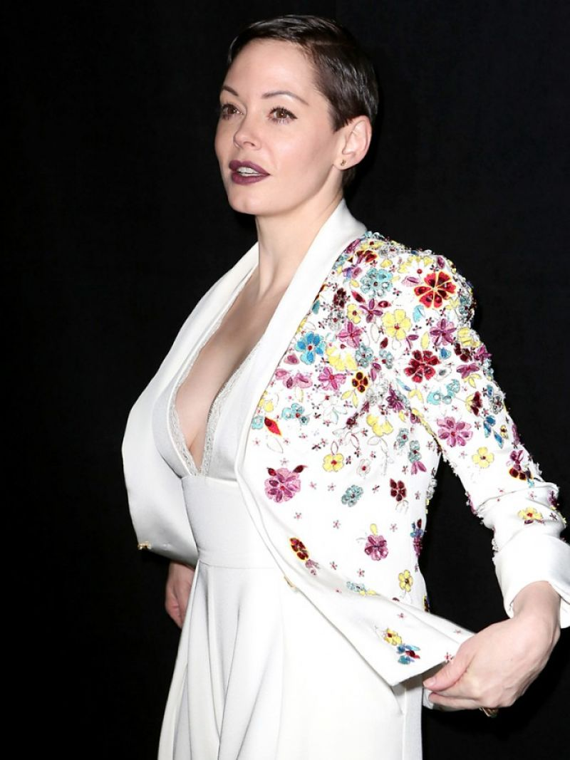 Rose Mcgowan At Zuhair Murad Fashion Show In Paris