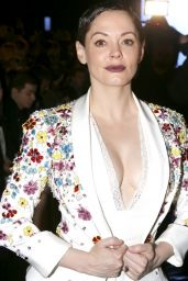 Rose McGowan - at Zuhair Murad Fashion Show in Paris, January 2015