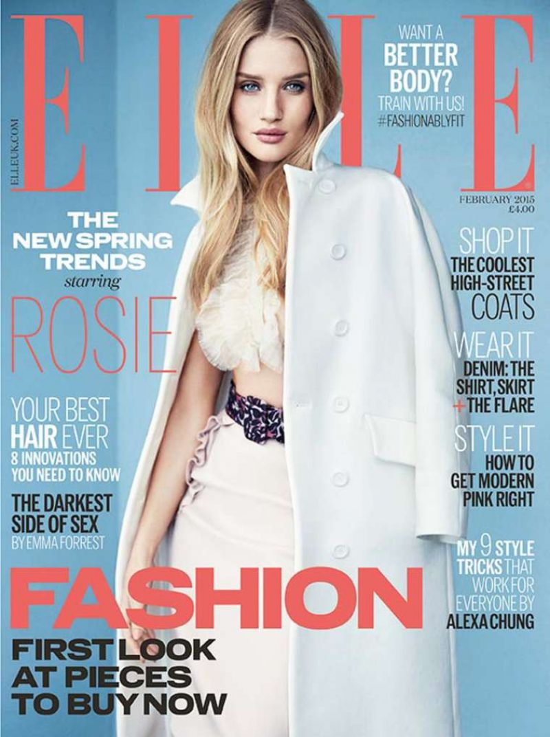 Rosie Huntington-Whiteley - ELLE Magazine (UK) - February 2015