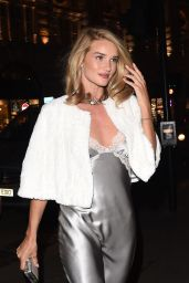 Rosie Huntington-Whiteley Night Out Style - Outside the Cafe Royal Hotel in London, Jan. 2015