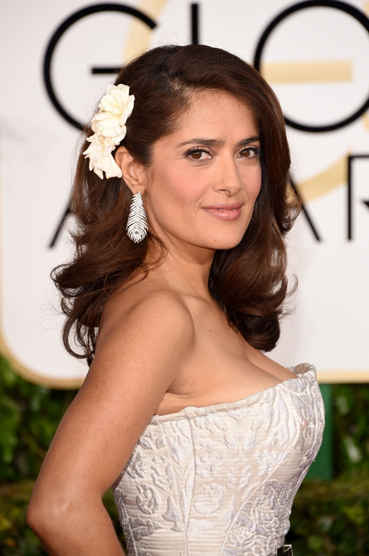 Salma Hayek – 2015 Golden Globe Awards in Beverly Hills