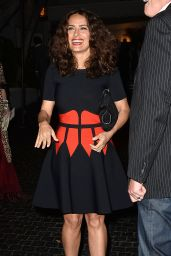 Salma Hayek - Having Dinner at The Chateau Marmont in Los Angeles, Jan. 2015