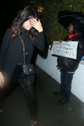 Selena Gomez Night Out Style - at the Chateau Marmont in Hollywood, Jan. 2015