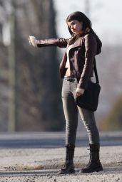 Selena Gomez - on the Set of