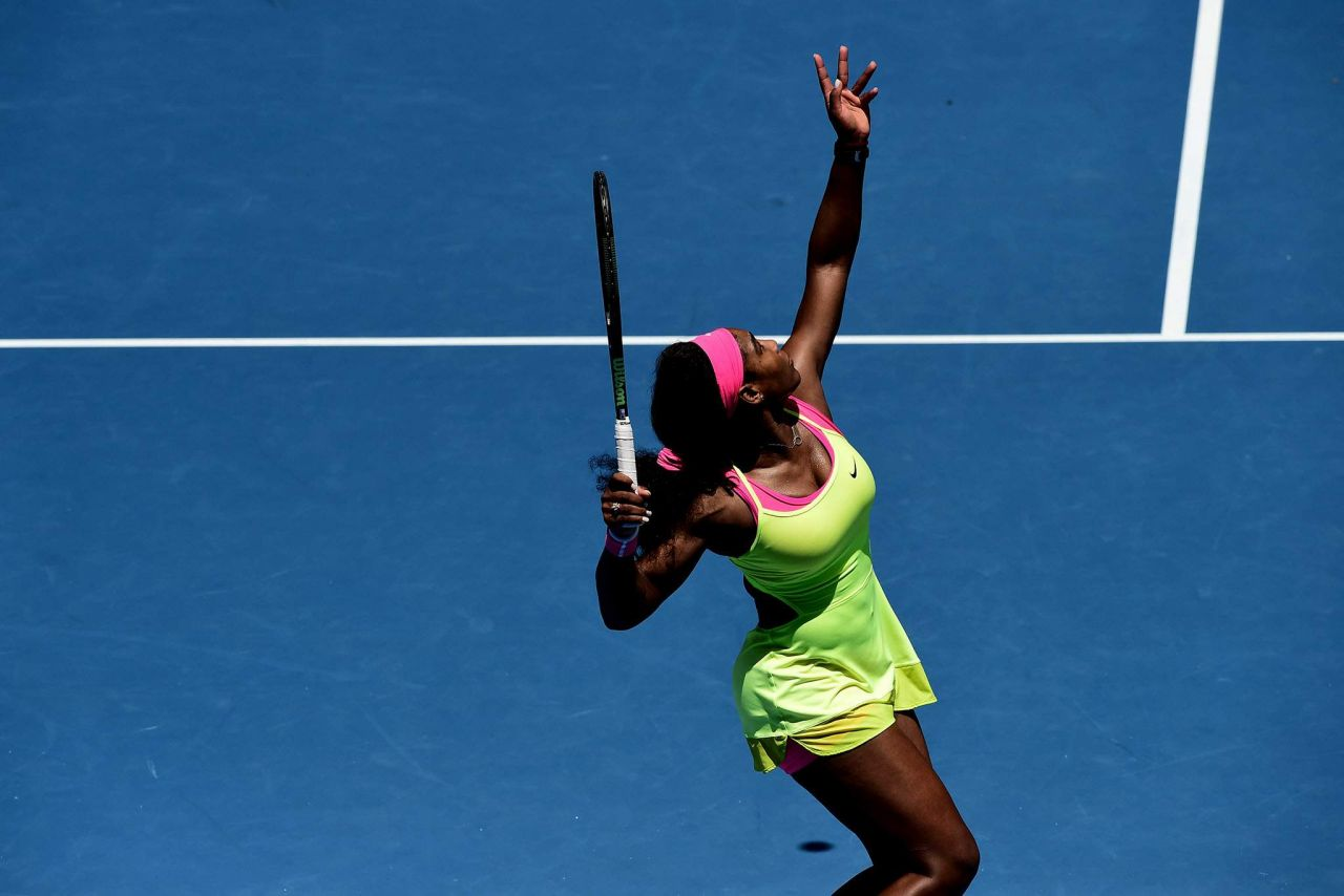 Serena Williams 2015 Australian Open In Melbourne Round 2