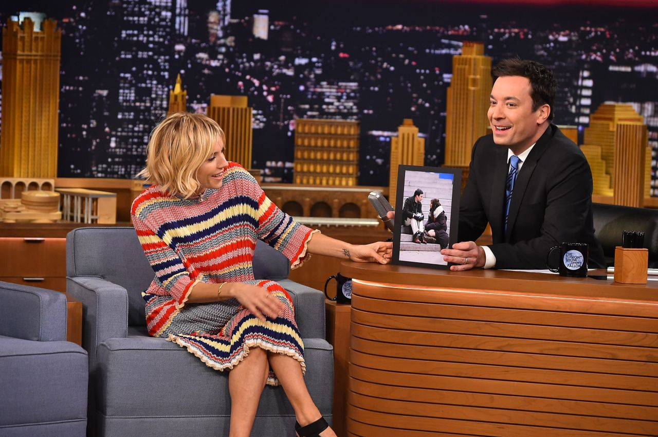 Sienna Miller - Appeared on Tonight Show With Jimmy Fallon - January 2015