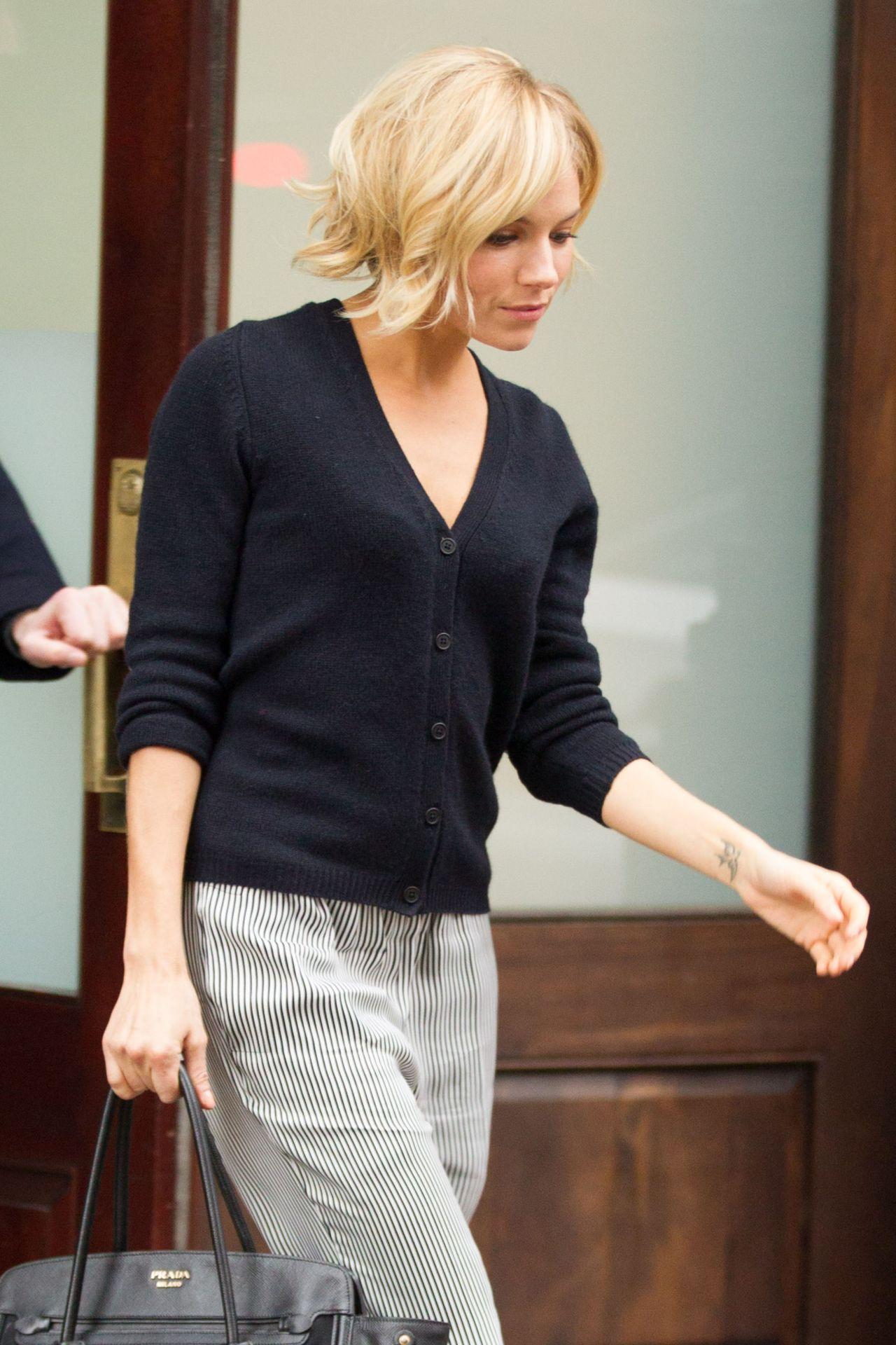Sienna Miller - Leaving Her Hotel in New York City, January 2015