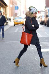 Sienna Miller Street Style - Out in Soho After Lunch at Balthazar, New York City