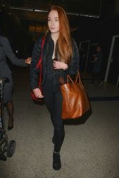 Sophie Turner at LAX Airport - January 2015