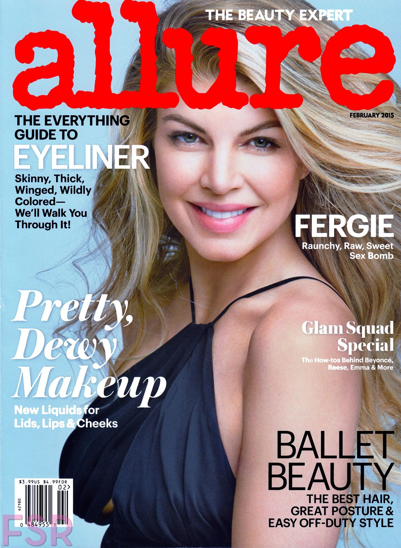 allure fergie magazine february covers stacy ferguson duhamel cleavage josh bikini mag curious waxes marriage issue album talks therapy demarchelier