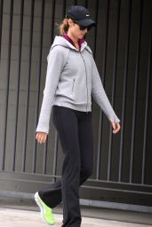 Stacy Keibler in Track Suit - Out in Los Angeles, January 2015