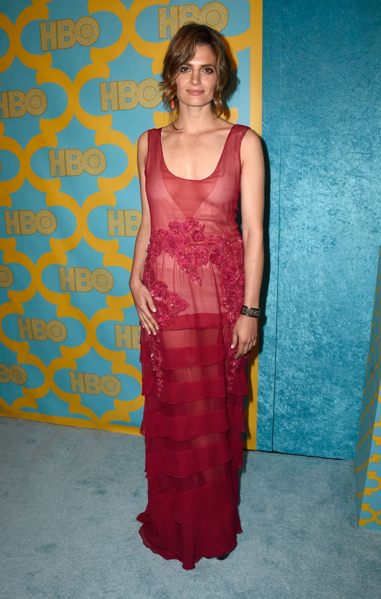 Stana Katic HBOs Post 2015 Golden Globe Awards Party