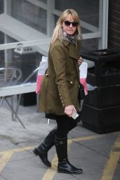Tamzin Outhwaite - Outside the ITV Studios in London, January 2015