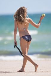 Teresa Palmer in a Bikino - Beach in Adelaide - January 2014