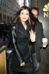Victoria Justice at the NBC Studios in New York City, January 2015