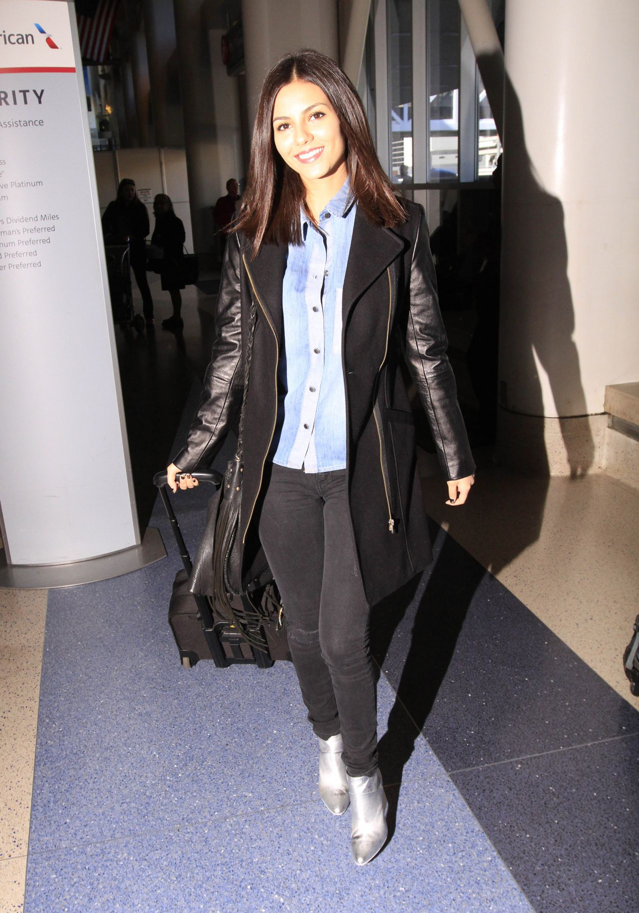 Victoria Justice Casual Style At Lax Airport January 2015