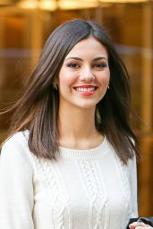 Victoria Justice Style - Outside SiriusXM Studios, January 2015