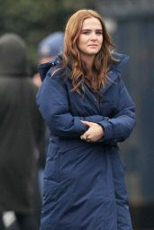 Zoey Deutch - On the Set of