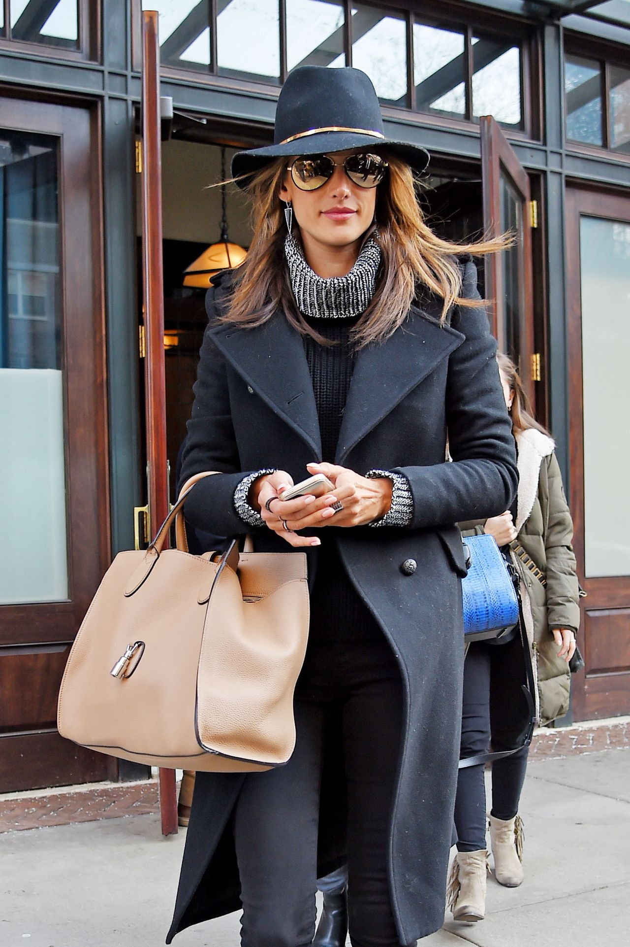 Alessandra Ambrosio Fashion - Out in New York City, February 2015