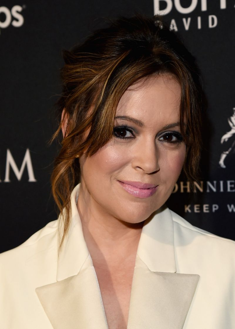 Alyssa Milano - The Maxim Party in Phoenix, January 2015