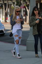 Amanda Bynes in Ripped Jeans - Out in West Hollywood, January 2015