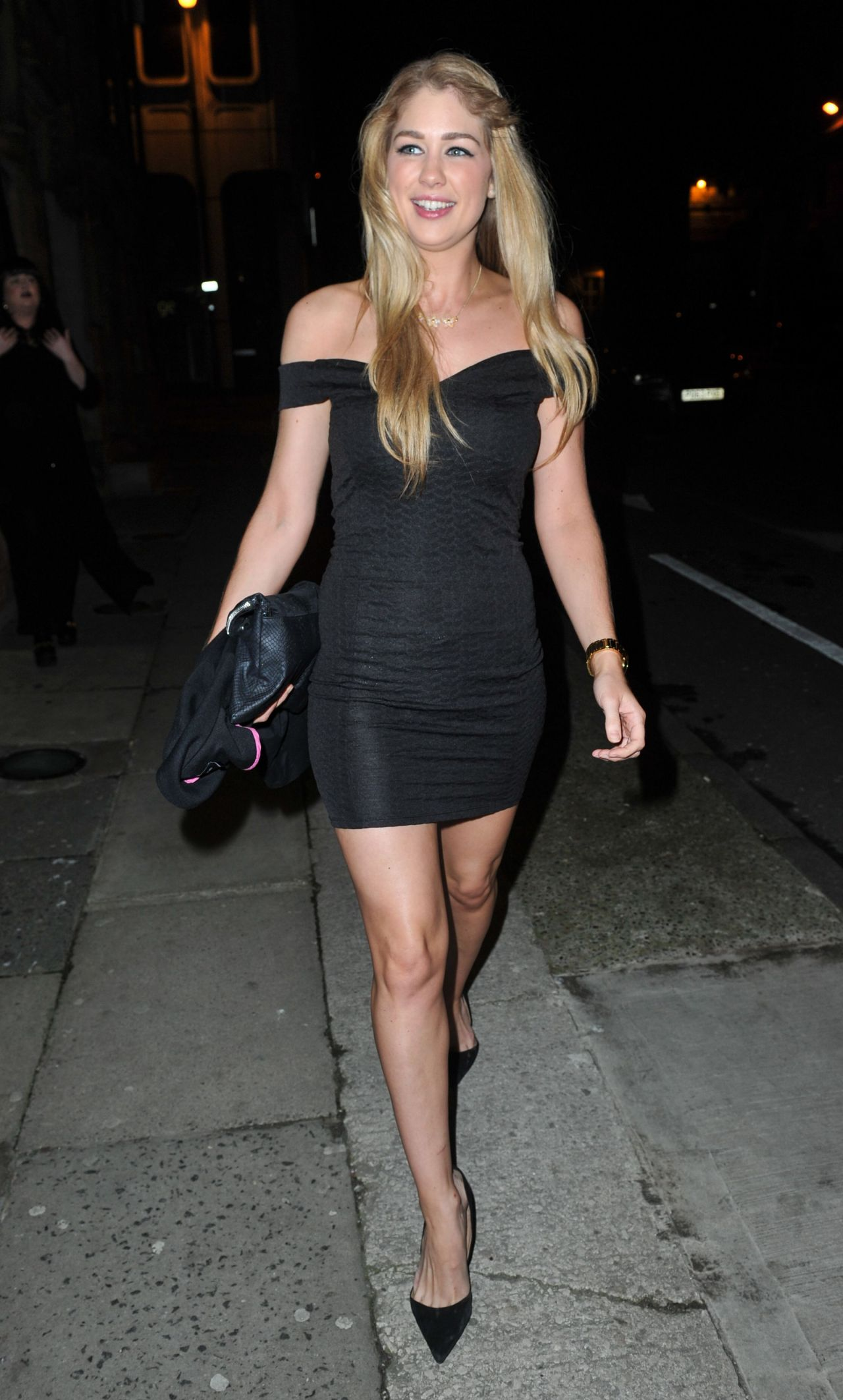 Amanda Clapham Night Out Style -  at The Amanzi Restaurant in Liverpool, Jan. 2015