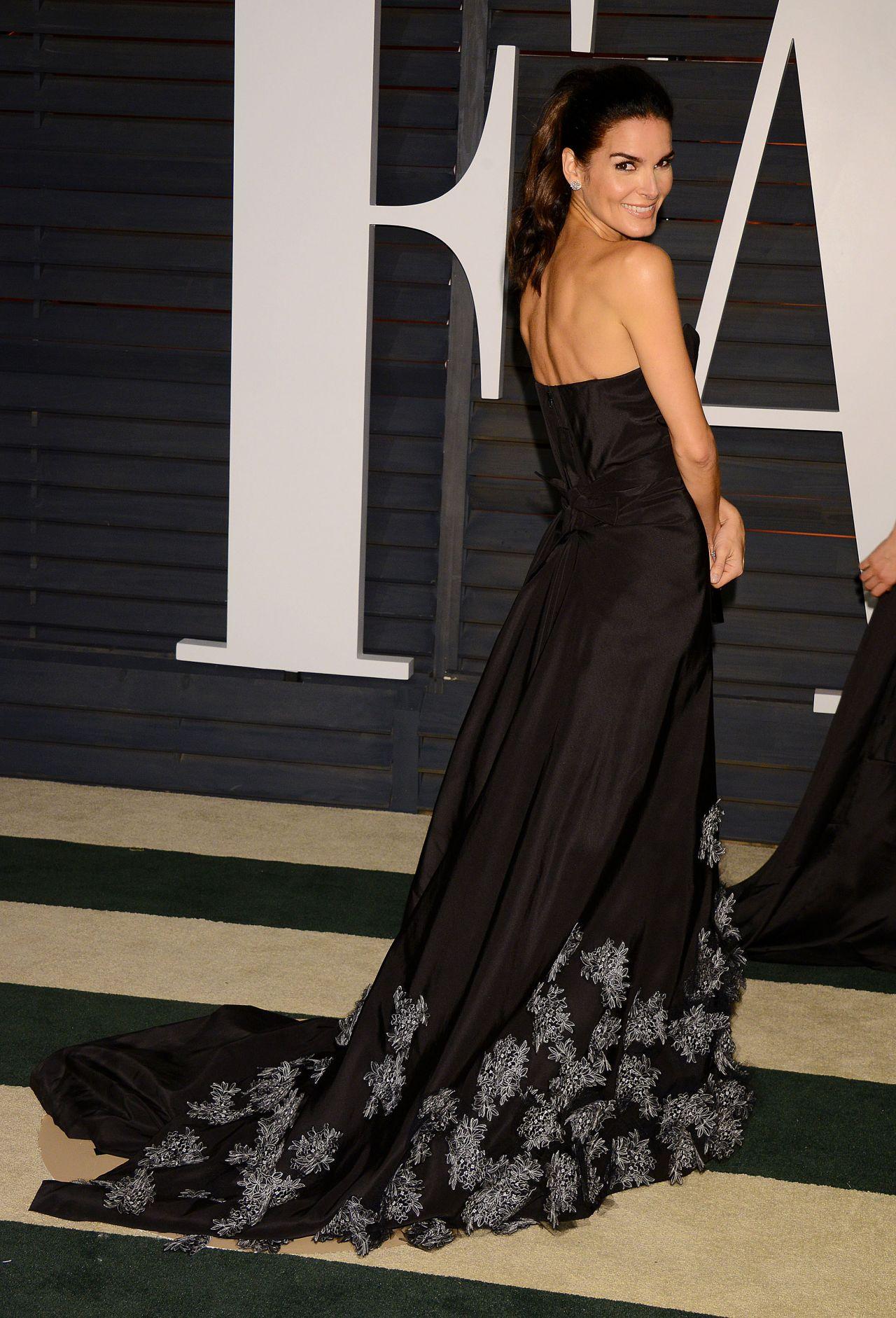 Angie Harmon 2015 Lingerie Vanity Fair Oscar Party In