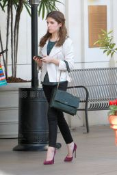 Anna Kendrick Fashion - Going to the Grove in West Hollywood, FEb. 2015