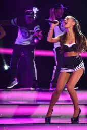 Ariana Grande Hot Cheerleader in Heels - Performs at 2015 NBA All-Star Game