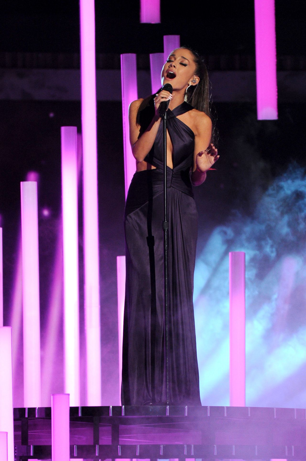 Ariana Grande Performs At 2015 Grammy Awards In Los Angeles