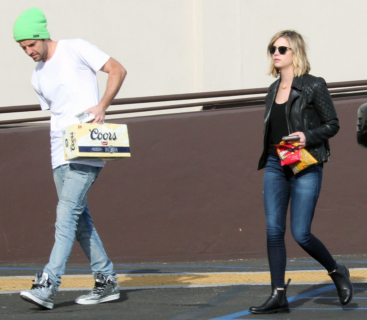 Ashley Benson in Skinny Jeans - Out in Los Angeles, February 2015