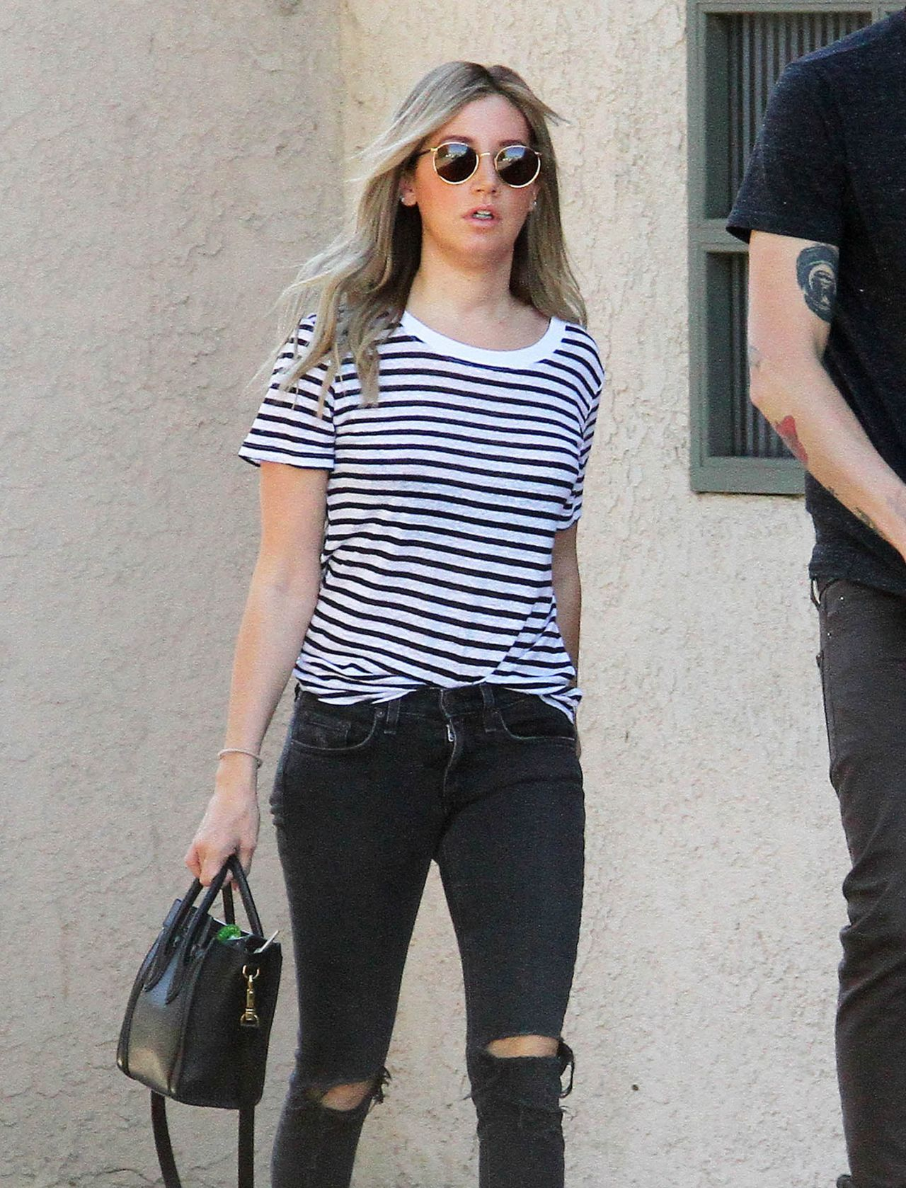 Ashley Tisdale in Ripped Jeans - Out in Los Angeles, February 2015