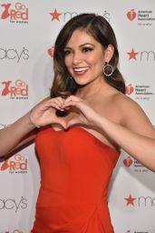 Bethany Mota - Go Red For Women Red Dress Collection 2015 in New York City