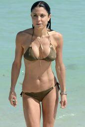 Bethenny Frankel in a Gold String Bikini On The Beach in Miami, Feb. 2015