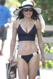Bethenny Frankel in Blue Bikini - February 2015
