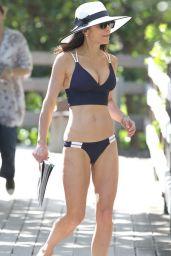 Bethenny Frankel in Blue Bikini - February 2015