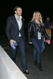 Britney Spears - Leaves the Super Bowl XLIX in Pheonix