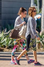 Brooke Burke in Leggings - Leaving a Gym in Malibu, February 2015