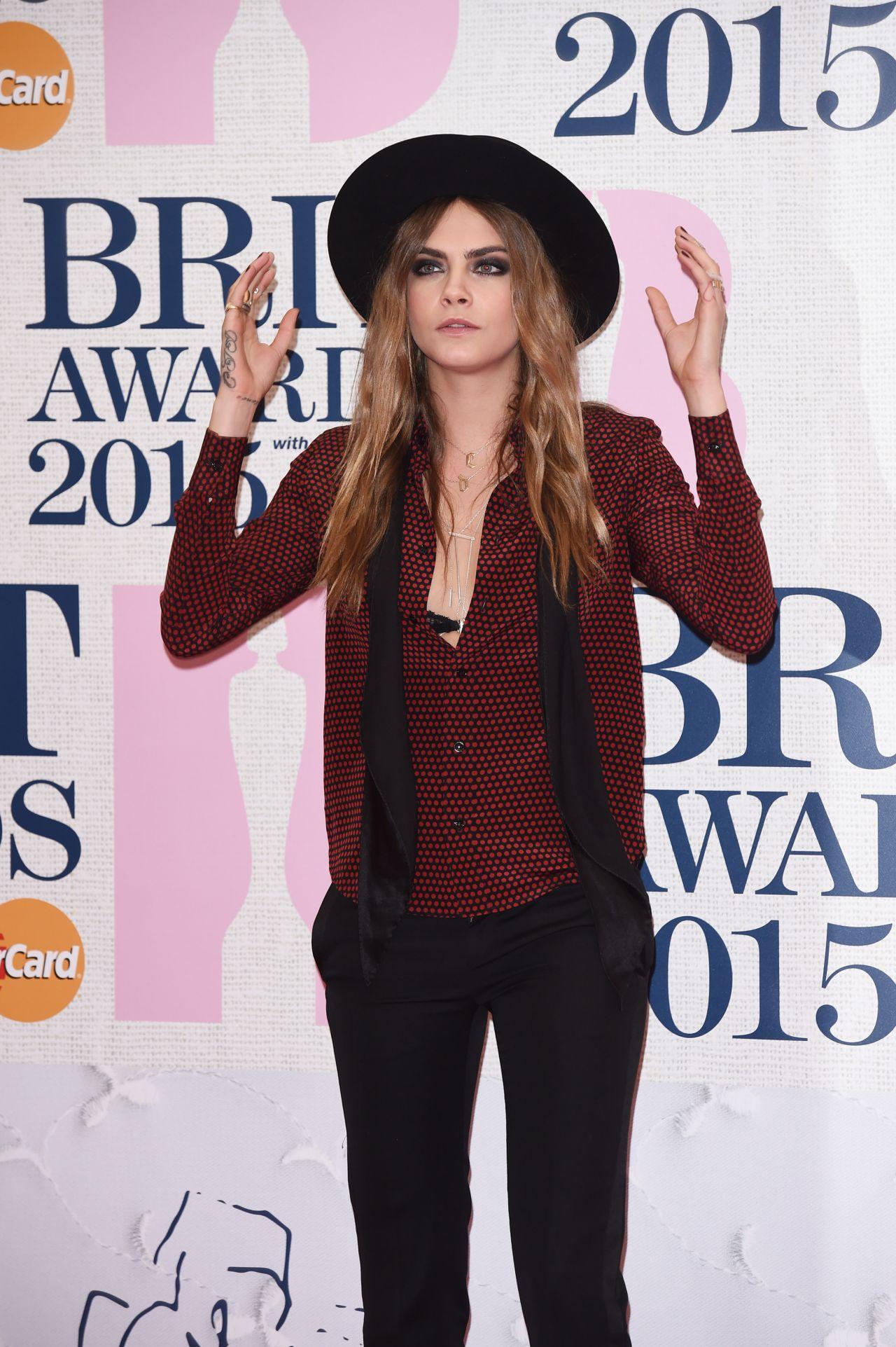 Cara Delevingne - 2015 BRIT Awards in London
