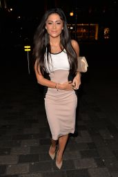 Casey Batchelor Night Out Style - Mayfair in London, February 2015