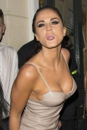 Casey Batchelor & Vicky Pattison Night Out Style - at The Bullroom in Canterbury, January 2015