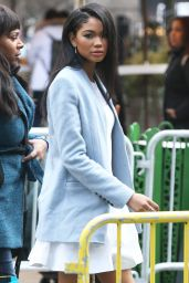 Chanel Iman - Arrives the Sports Illustrated