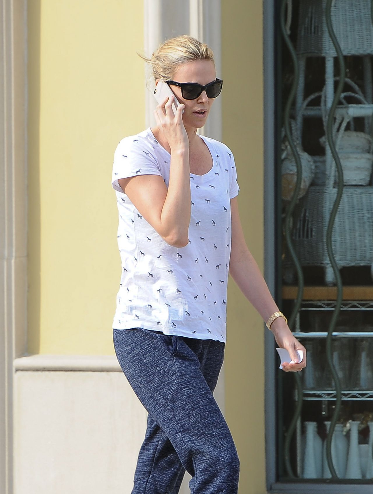 Charlize Theron Street Style - Out in LA, February 2015