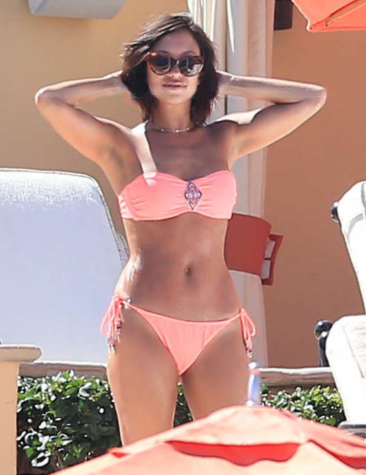 Cheryl Burke Poolside in a Bikini, February 2015