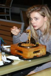 Chloe Moretz at Bibigo Bar & Dining in Century City, January 2015